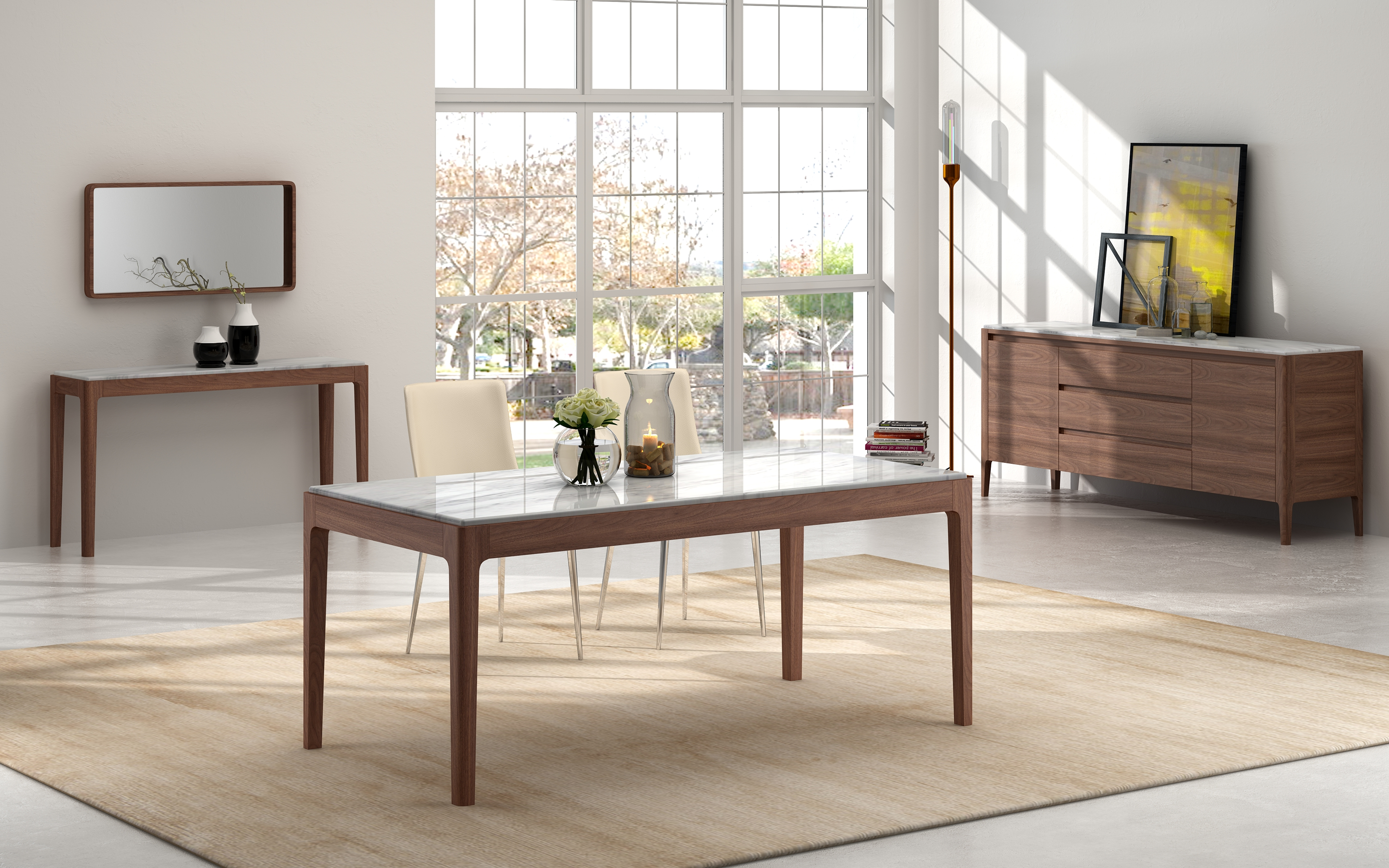 Delta Marble Dining Table Gainsville